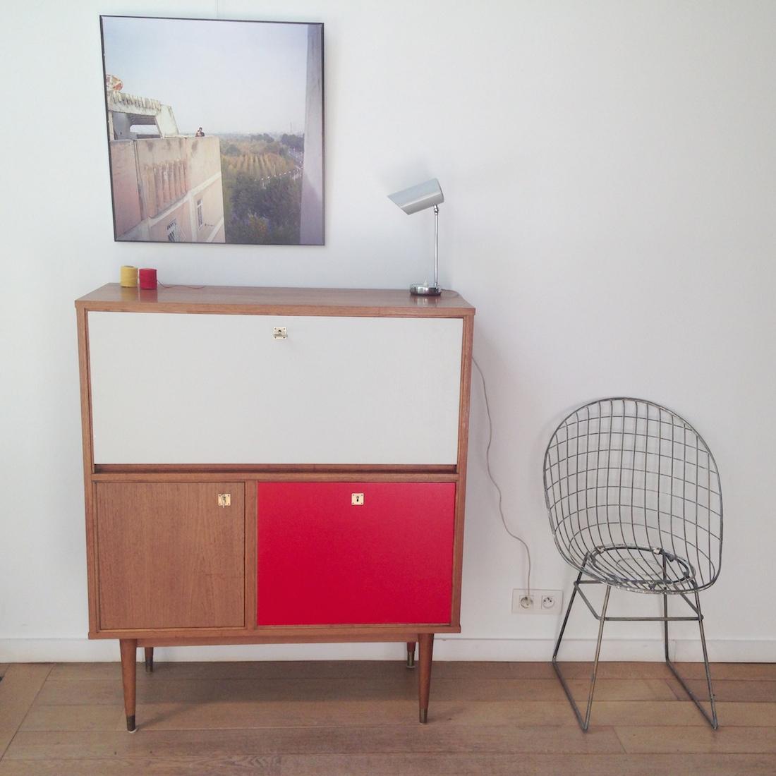 secr taire en teck la maison bruxelloise. Black Bedroom Furniture Sets. Home Design Ideas