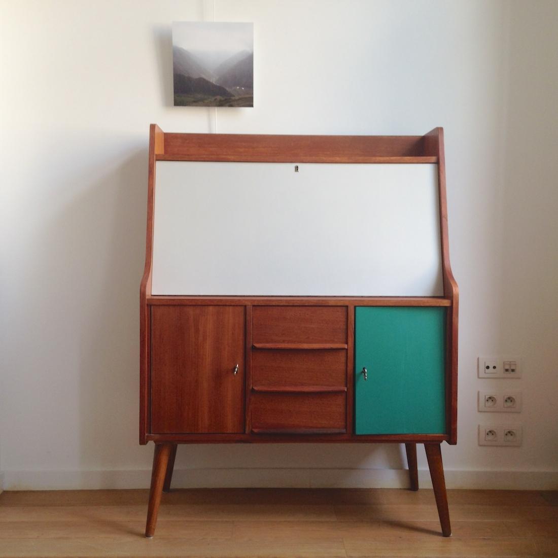 secr taire scandinave ann es 50 la maison bruxelloise. Black Bedroom Furniture Sets. Home Design Ideas