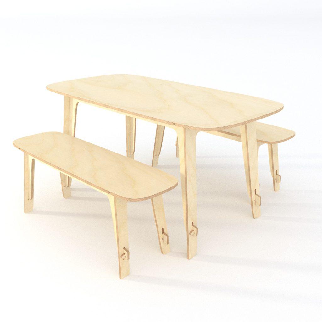 Table + 2 bancs Sur et Autour du trait