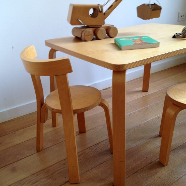 Table Et Chaise Enfant Alvaar Aalto 3