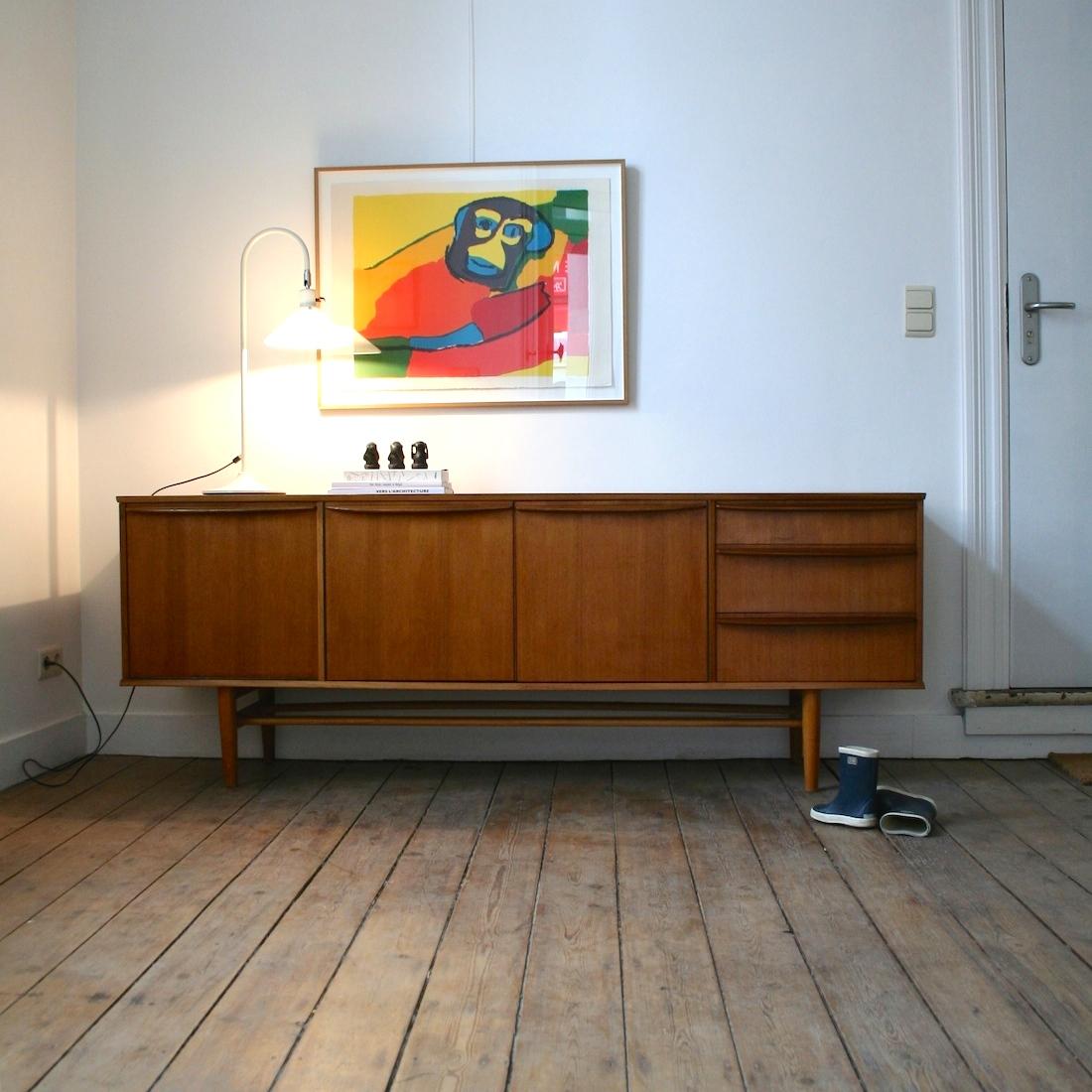 enfilade scandinave en teck la maison bruxelloise. Black Bedroom Furniture Sets. Home Design Ideas