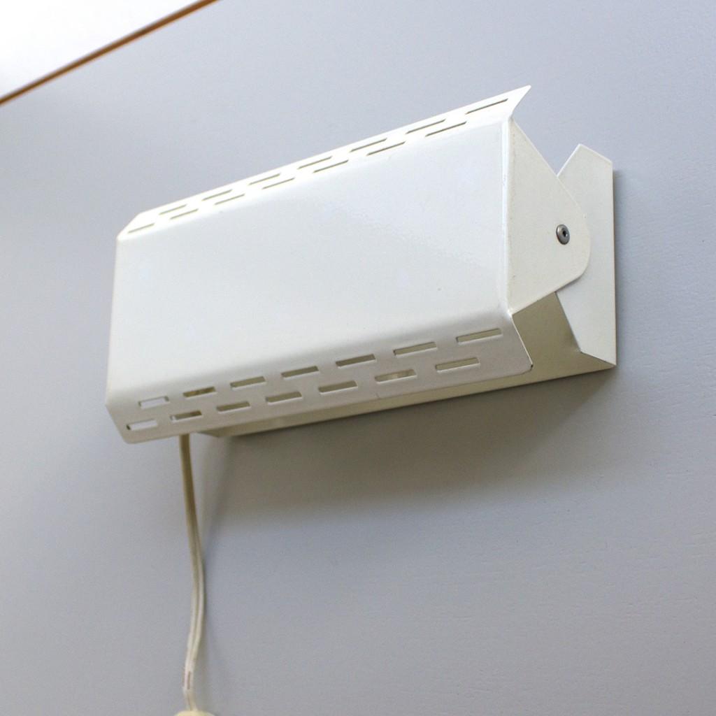 Paire d'appliques métalliques blanches