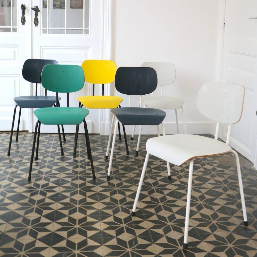 Série de 6 chaises Willy Van der Meeren