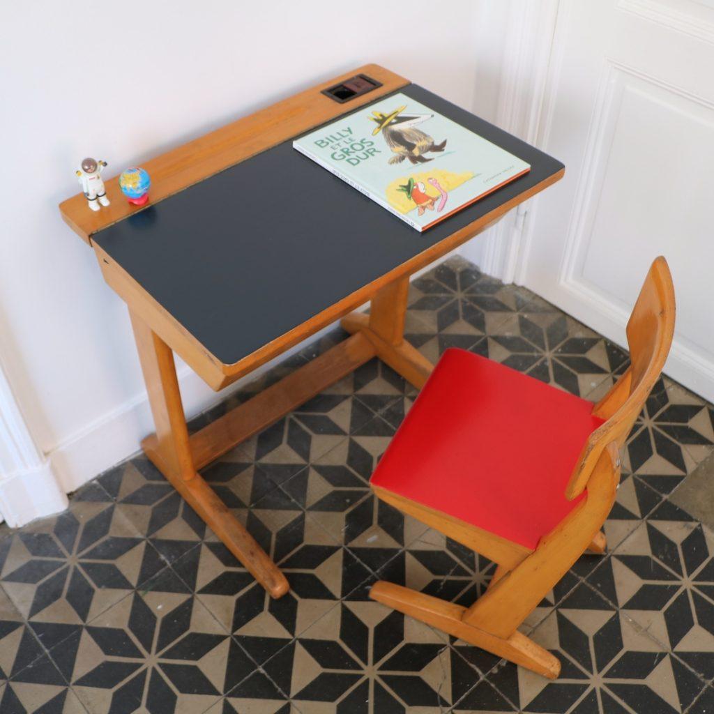 Bureau et chaise Casala bleu