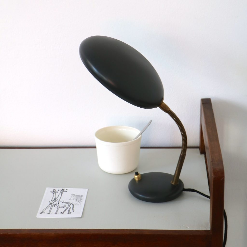 Lampe à poser coupole anthracite