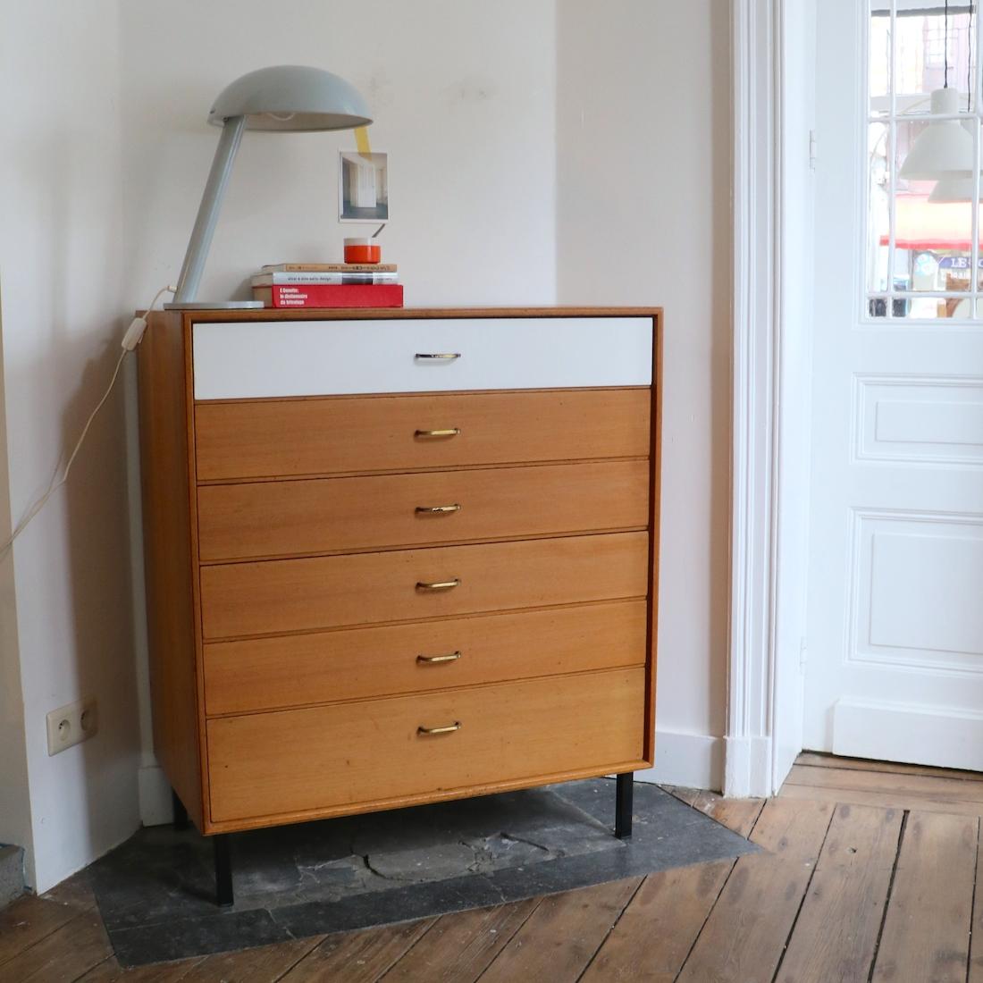 commode 6 tiroirs la maison bruxelloise. Black Bedroom Furniture Sets. Home Design Ideas