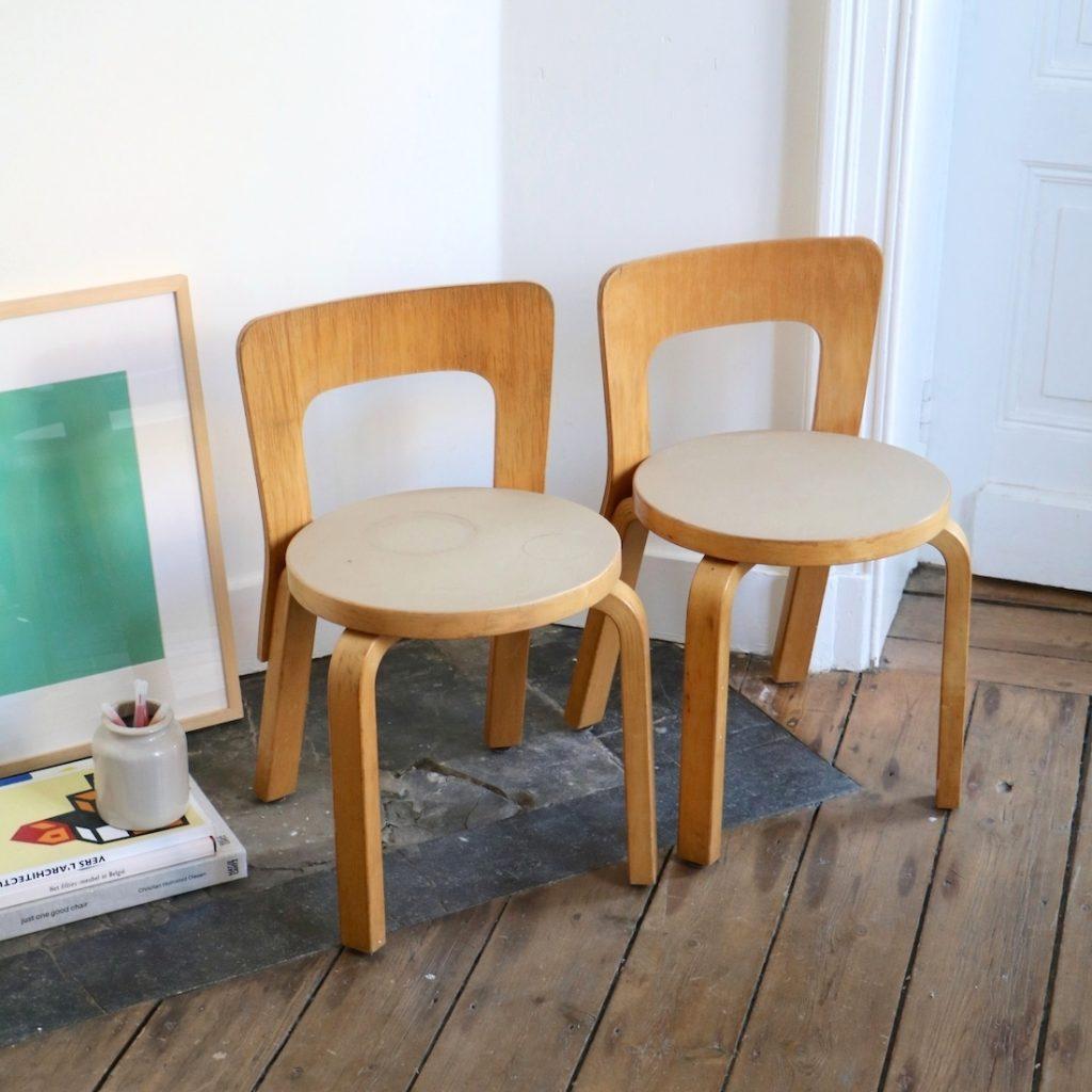 Paire de chaises Aalto enfant