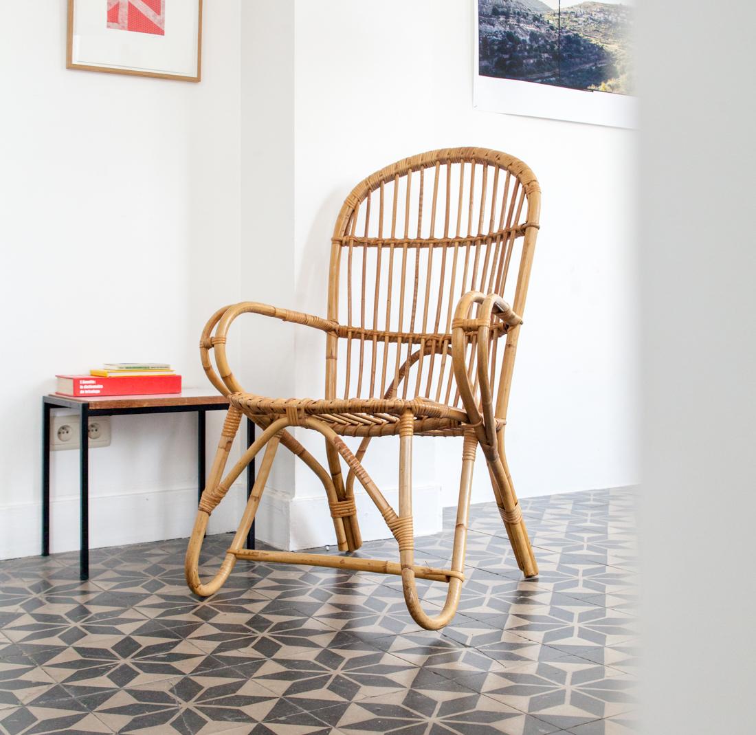 Fauteuil en rotin la maison bruxelloise for Catalogue de meubles en rotin