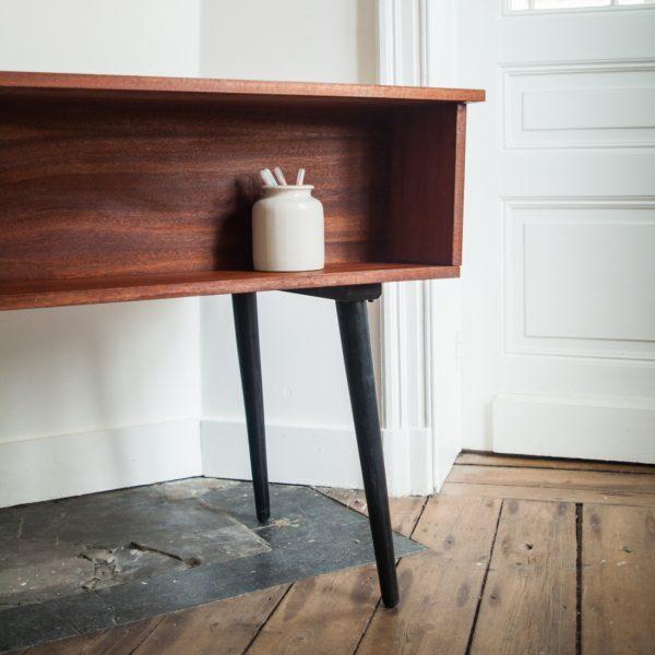 bureau recto verso teck la maison bruxelloise. Black Bedroom Furniture Sets. Home Design Ideas