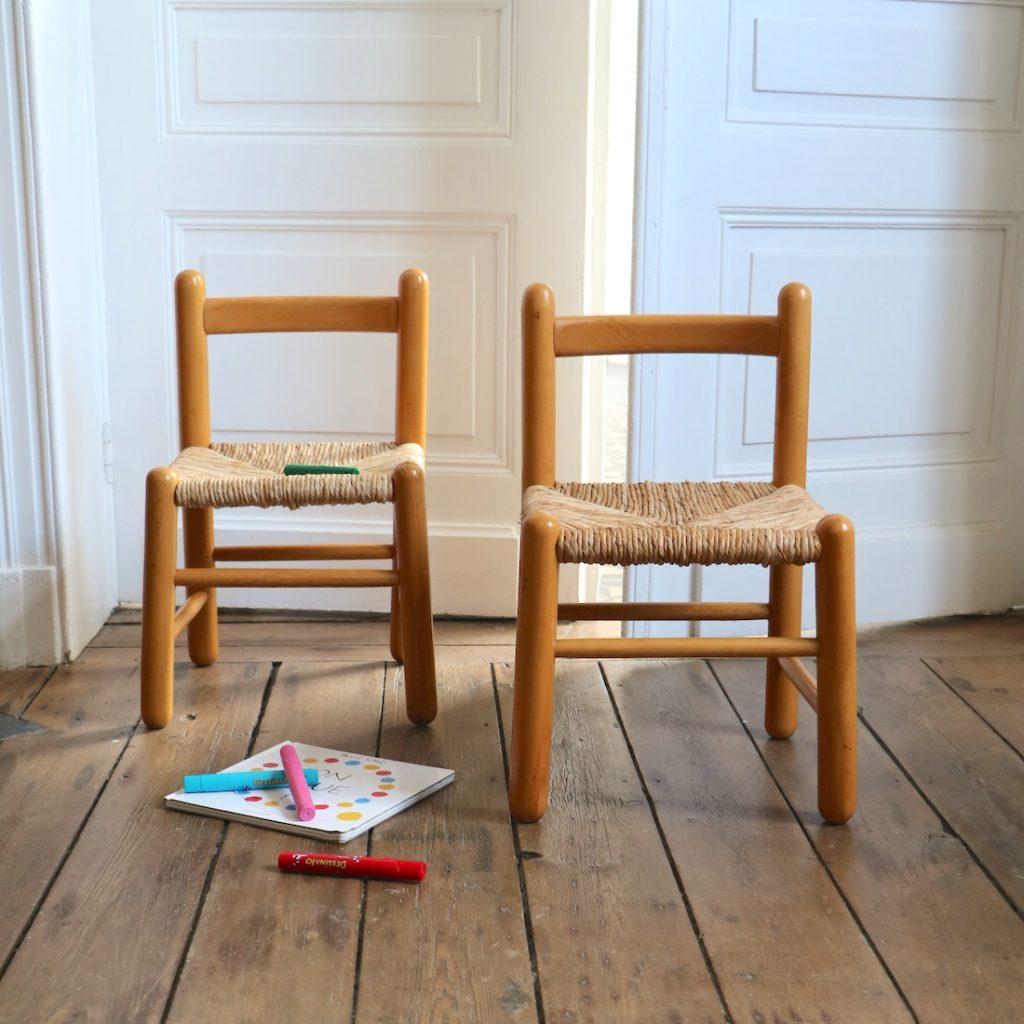 Paire de chaises enfant shaker