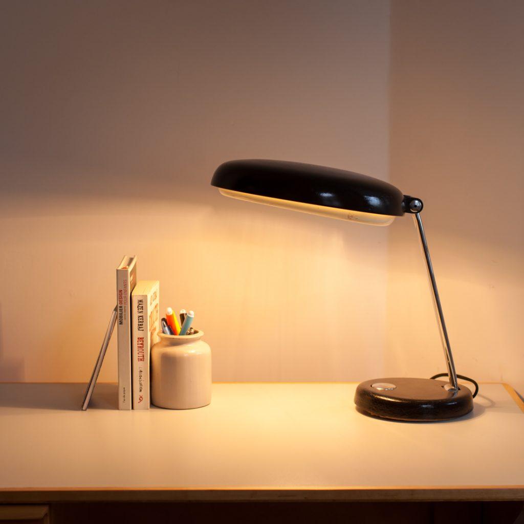 Lampe de bureau bicolore