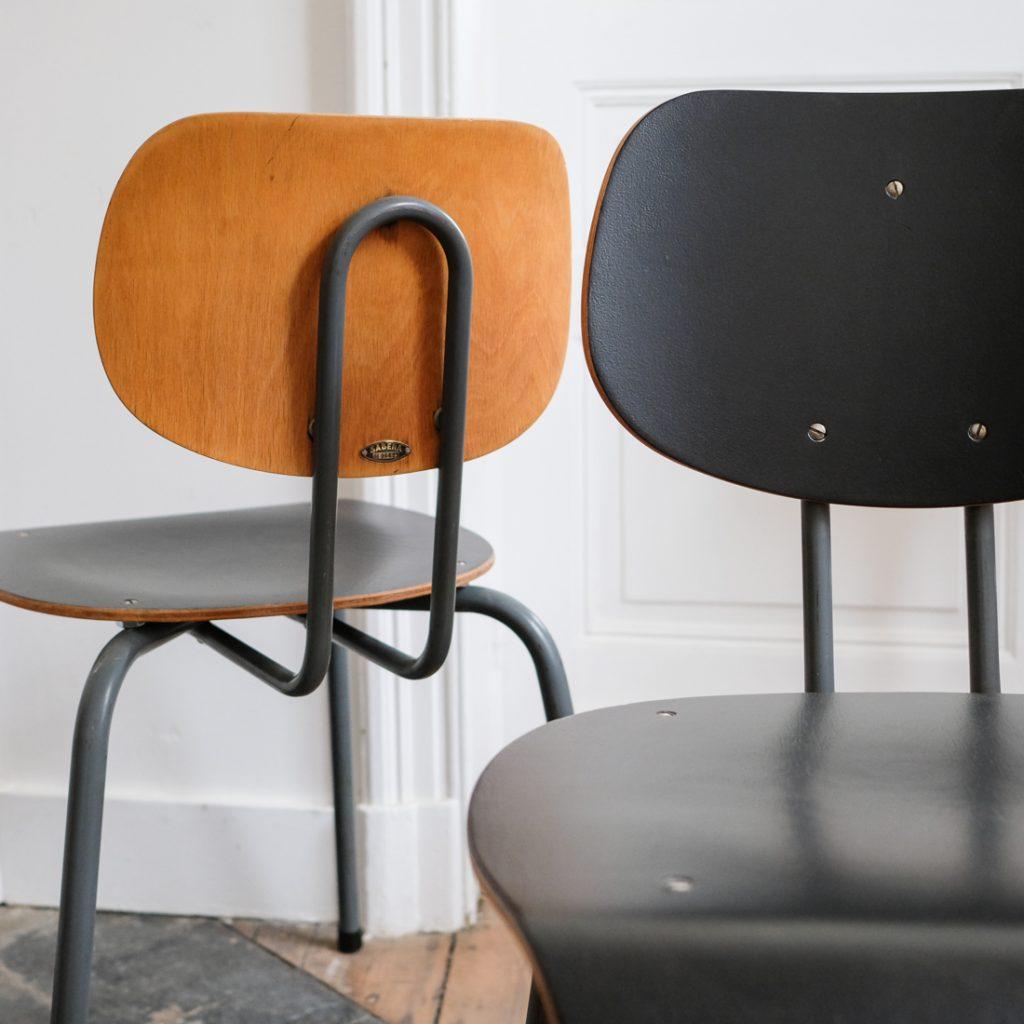 Série de 4 chaises Willy van der Meeren pour Sabena