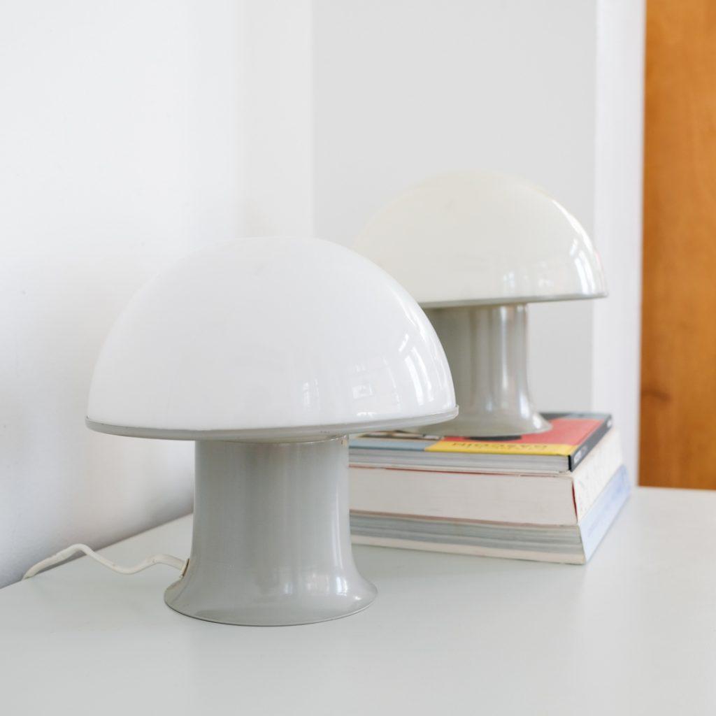 Paire de petites lampes mushroom