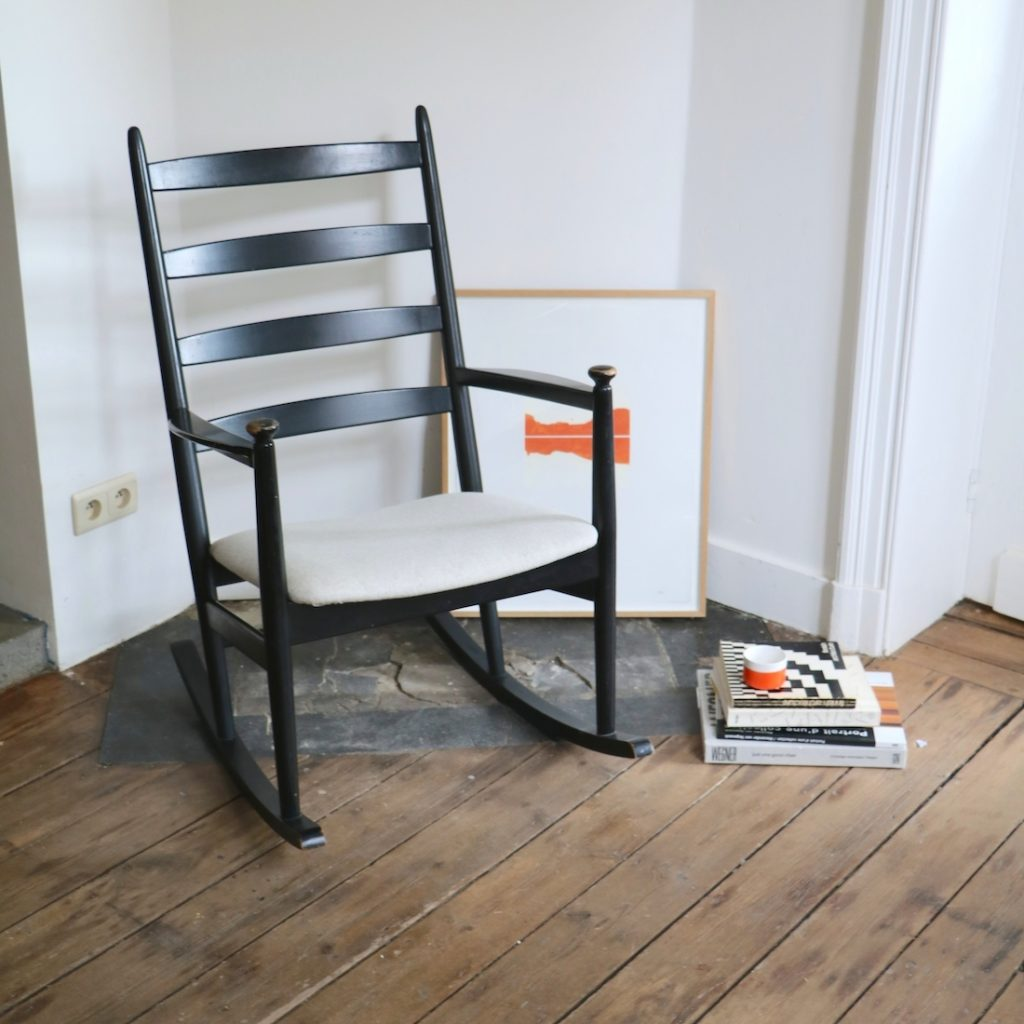 Rocking-chair Poul Volther pour Gemla Sweden