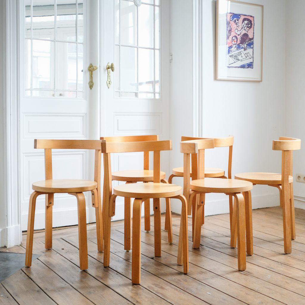 Série de 6 chaises en Plywood