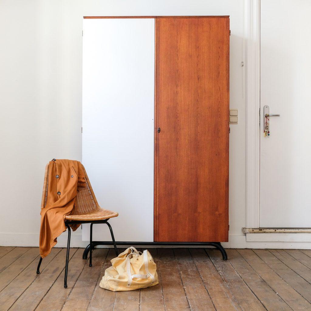 grande armoire bicolore - Mobilier Vintage