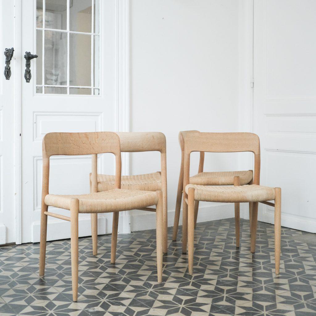Série de 4 chaises Niels O. Moller