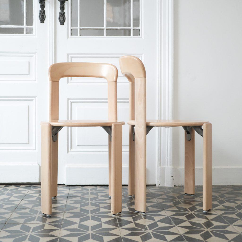 Série de 4 chaises en hêtre Bruno Rey