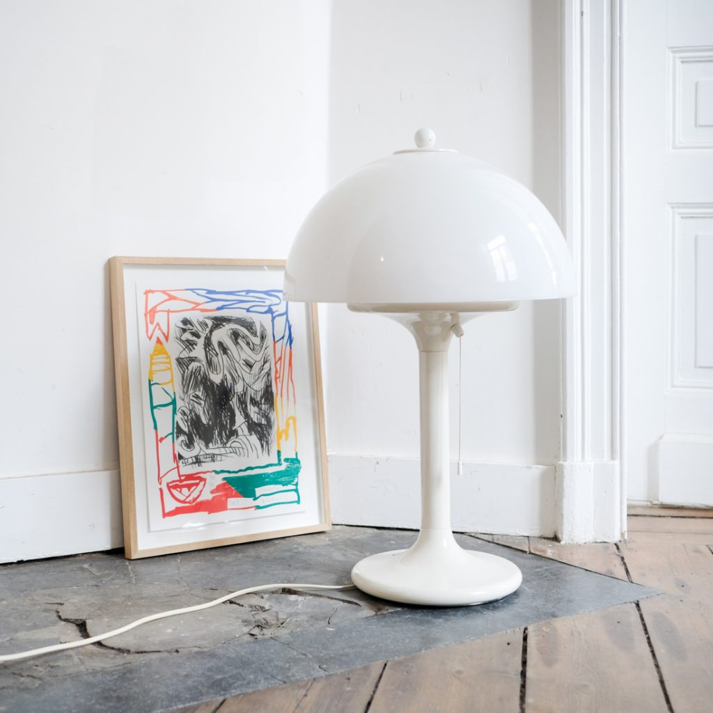 Lampe mushroom blanche