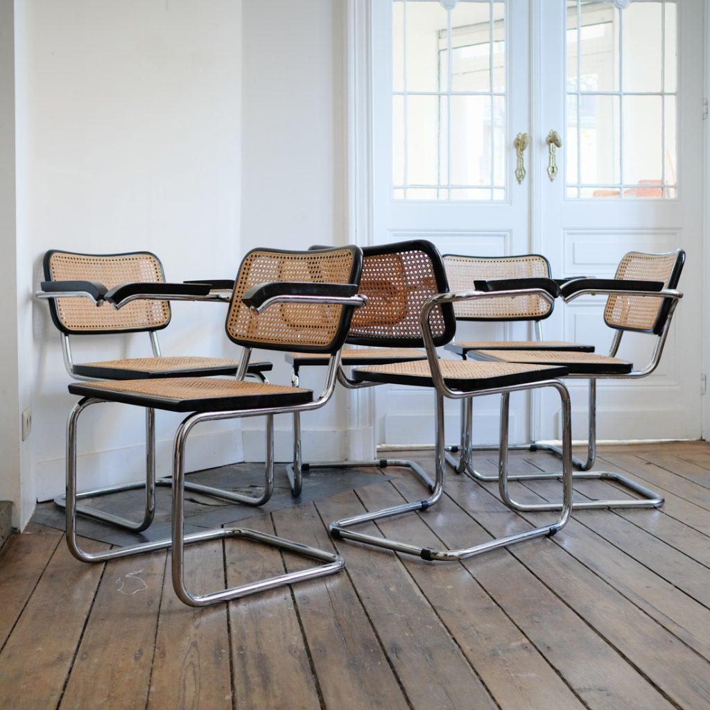 Série de 6 fauteuils en cannages