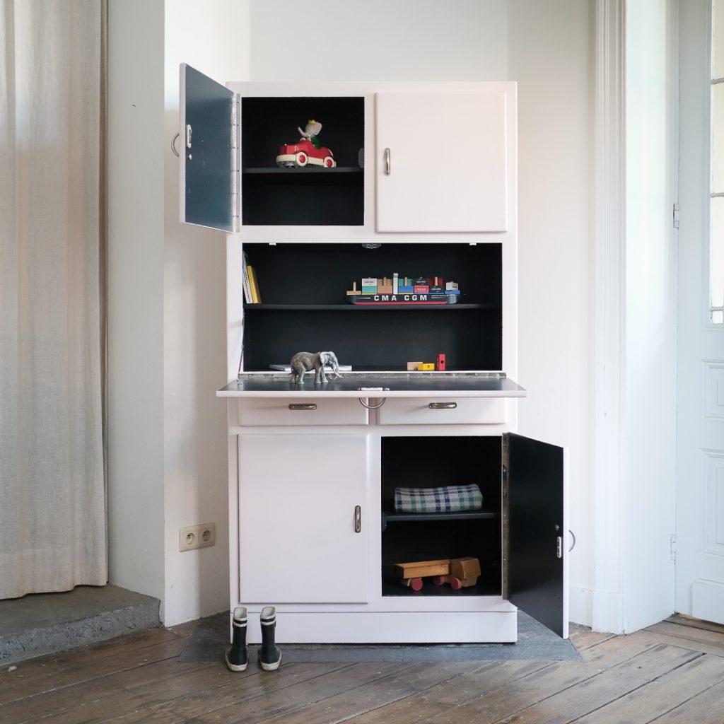 Grande armoire Cubex rose poudre