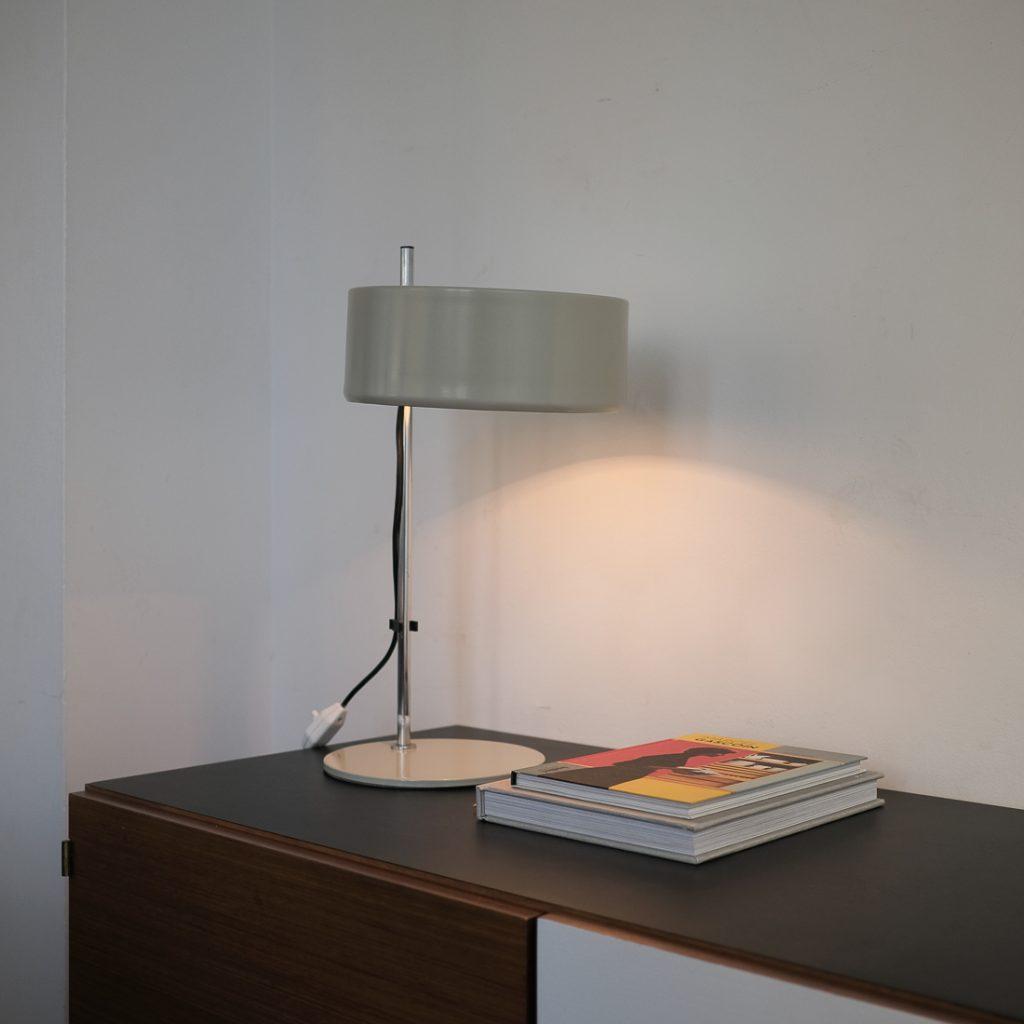 Lampe coupole gris mastic