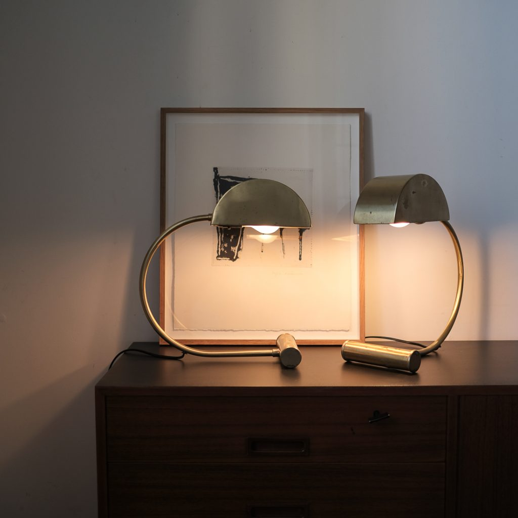 Paire de lampes en laiton