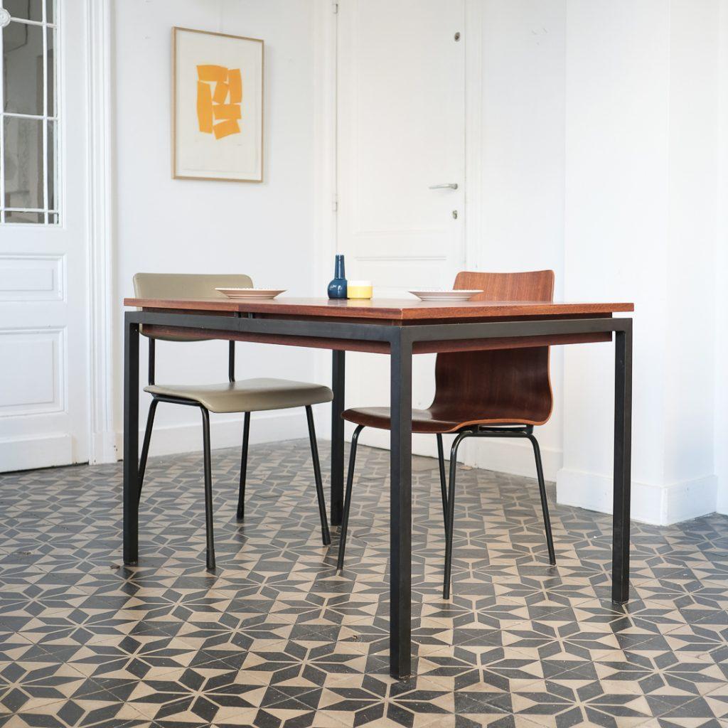 Table moderniste double rallonge