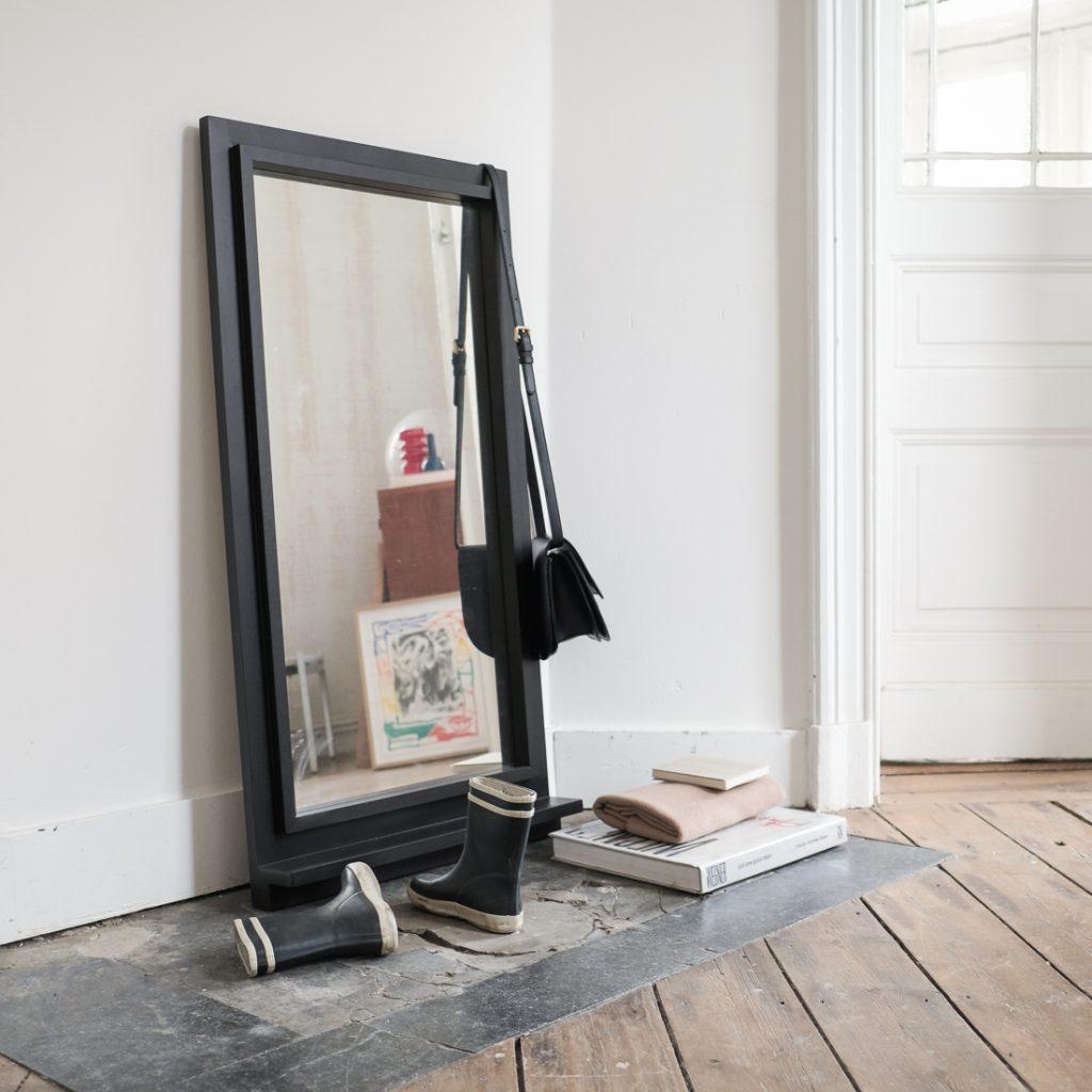 Grand miroir noir