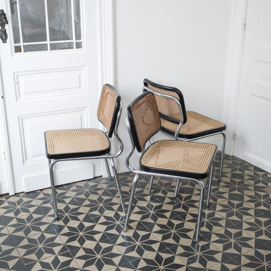 Série de 3 chaises Cesca