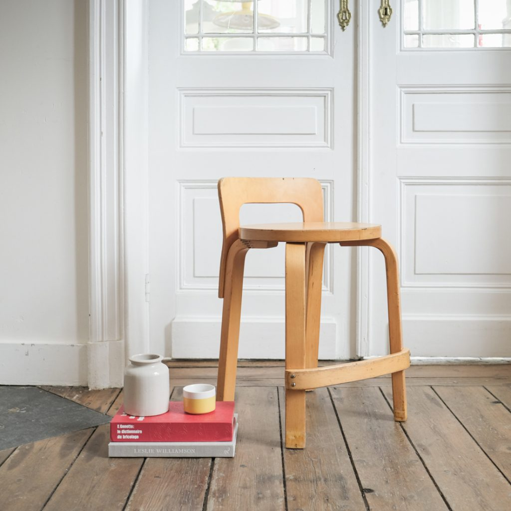 Chaise-tabouret Aalto