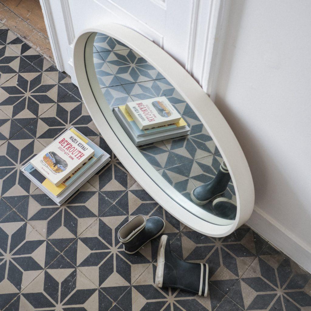 Grand miroir ovale