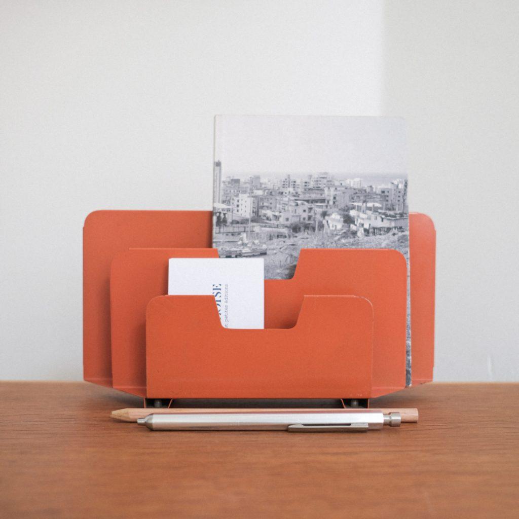 Porte-lettre orange
