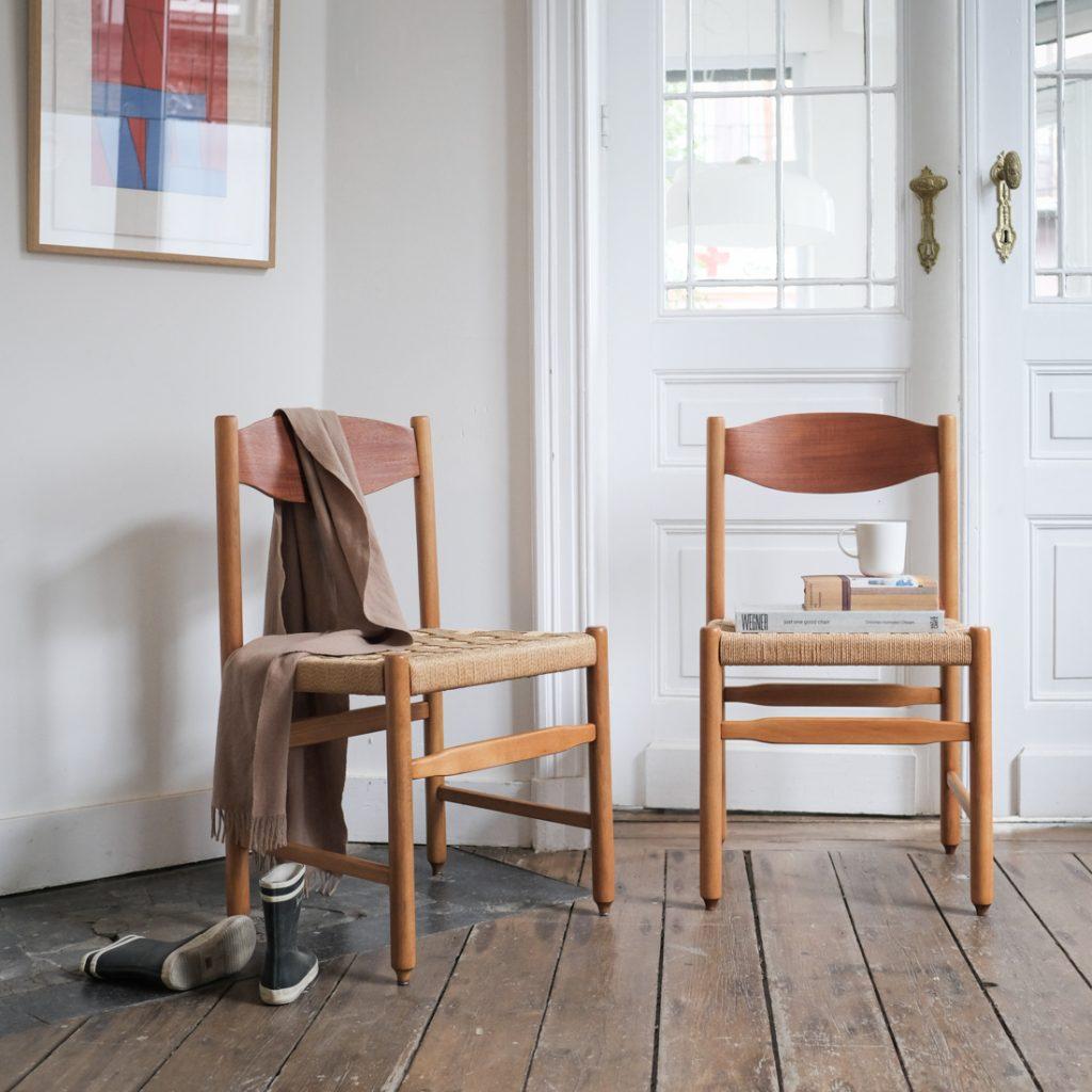 Paire de chaises en papercord