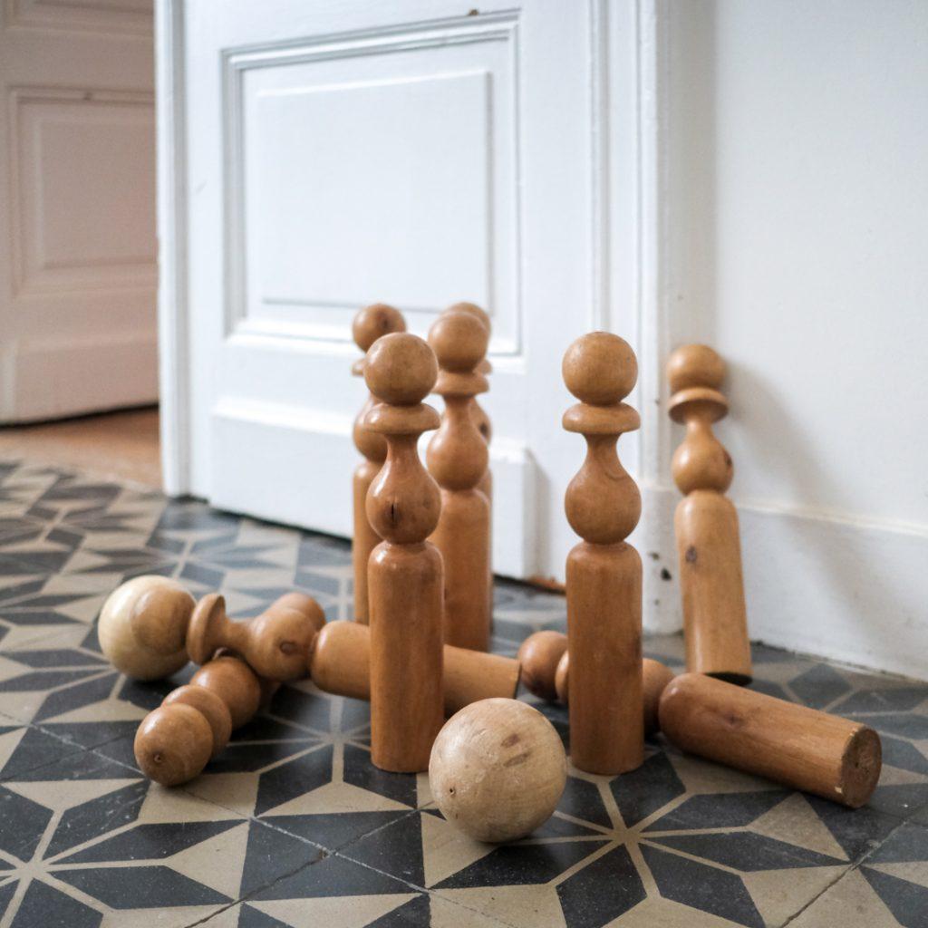 Jeux de quilles en bois