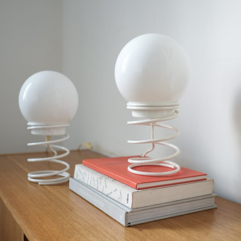 Paire de lampes spirales