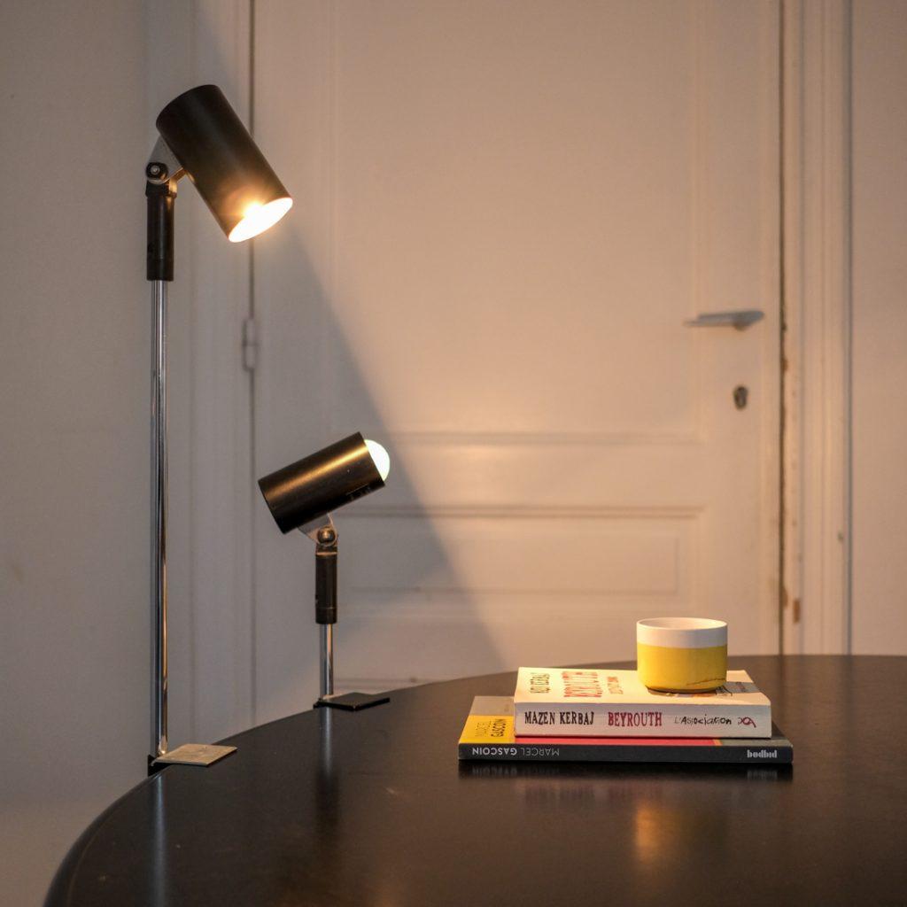 Paire de lampes spot orientables