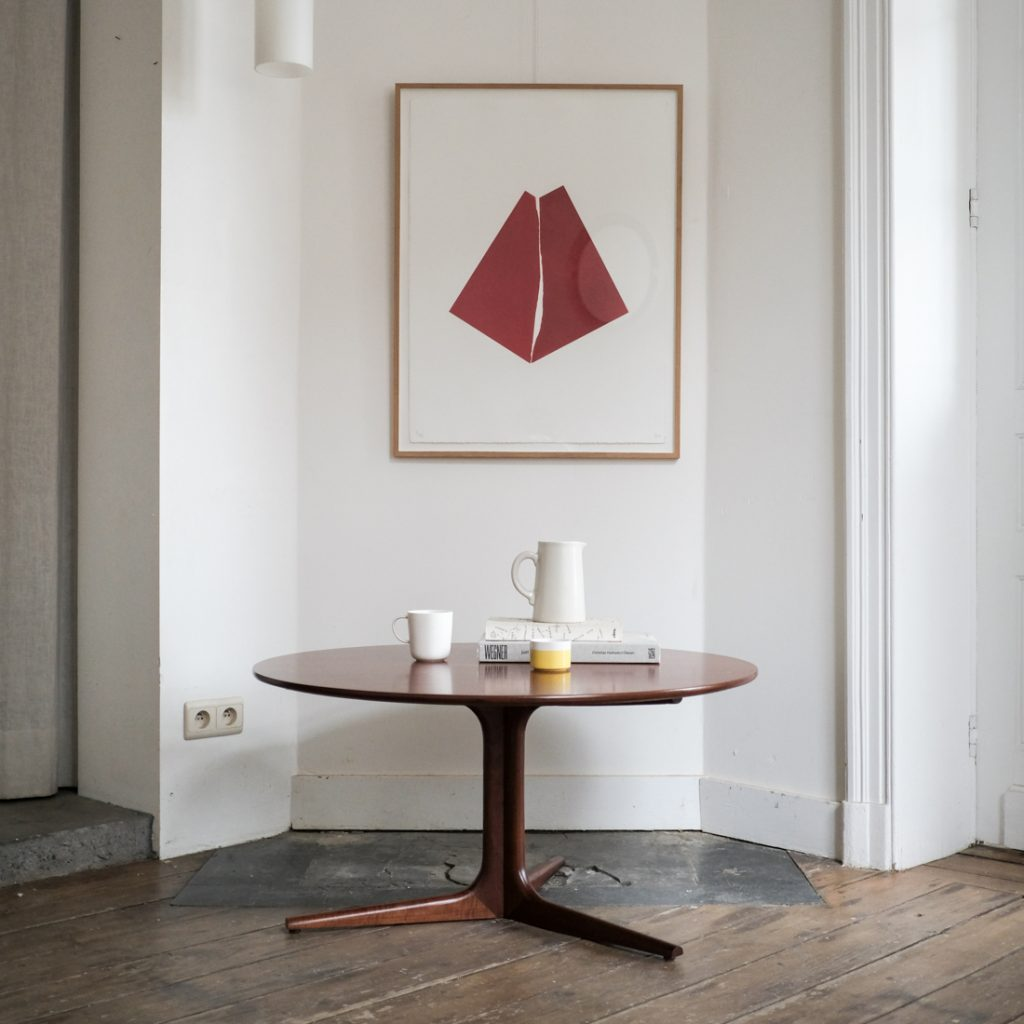 Table basse ronde scandinave