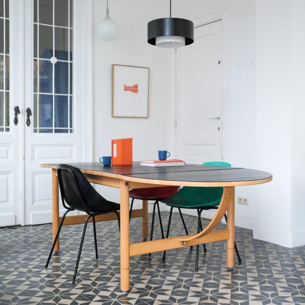 Table à rallonge ovale