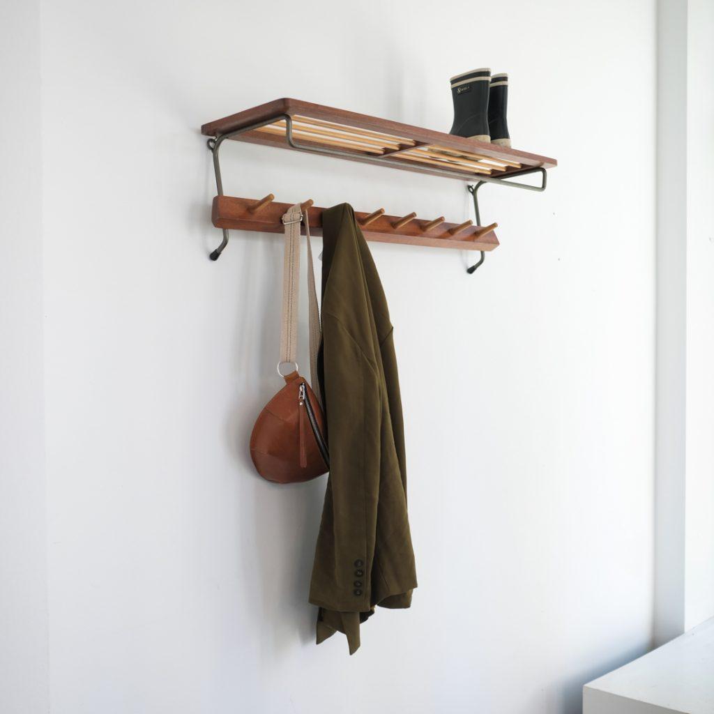 Porte-manteau métal et bois