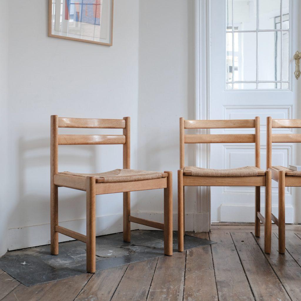 Série de 4 chaises en papercord