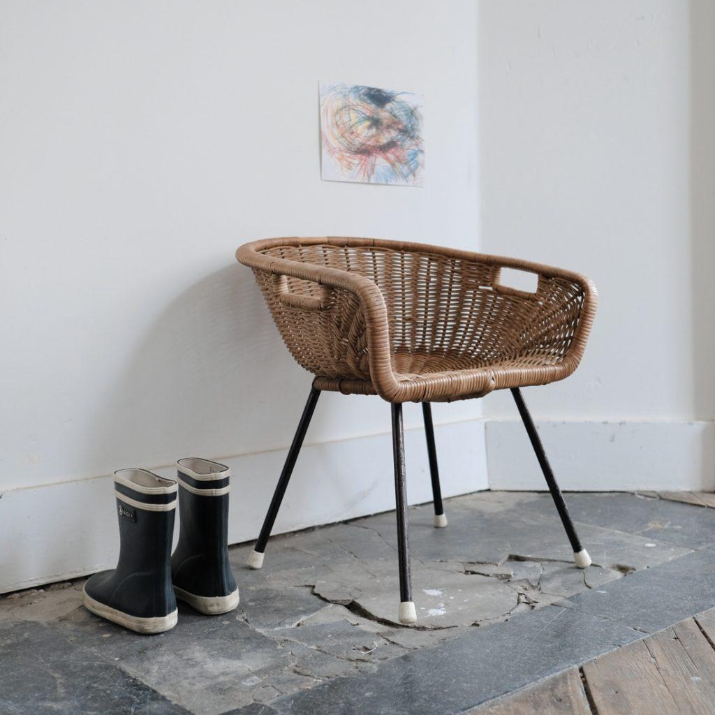 Mini fauteuil en rotin