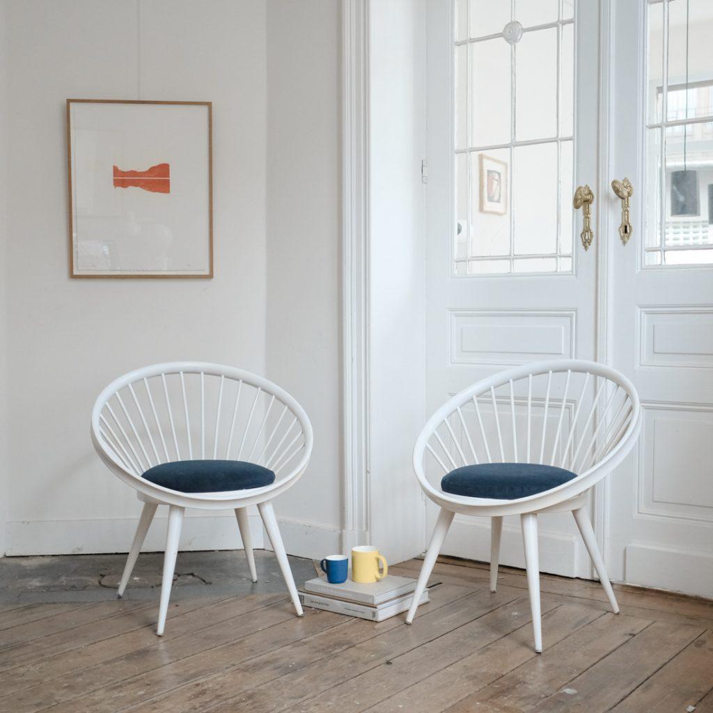 Paire de fauteuils Yngve Ekström