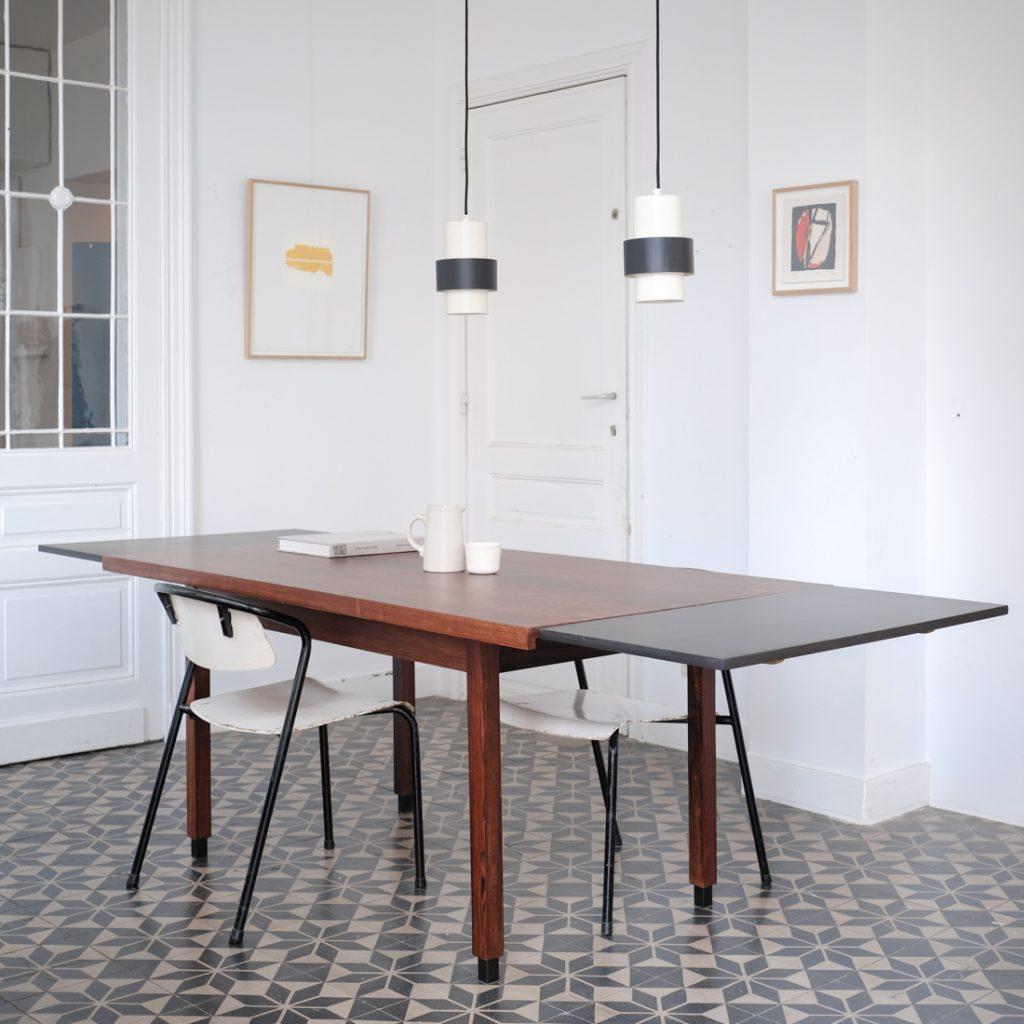 Table à rallonges en palissandre